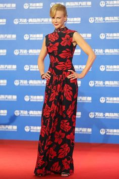 Oriental Movie Metropolis Ceremony, Qingdao, China - September 22 2013  Nicole Kidman in a Prada gown.