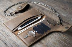 Cadena cartera de motorista personalizados cuero por JooJoobs