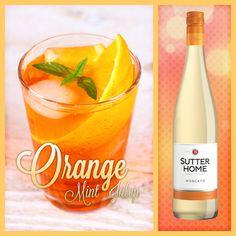 This Orange Mint Julep is as sweet as summer! Cheers!