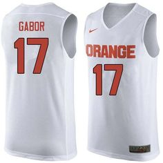 333fc688ecfc Men  17 Billy Gabor Syracuse White College Basketball Jerseys Sale-White