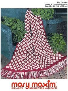Crochet an afghan using this pattern.