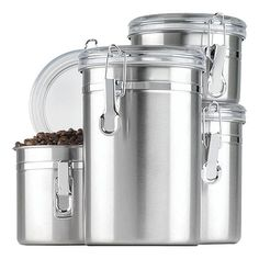 20 best stainless steel canister sets images canister sets rh pinterest com