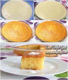 Revani Tarifi İçin Malzemeler 3 adet yumurta, 2 türk kahvesi fincanı şeker, 3 türk kahvesi fincanı yoğurt, 1 türk kahvesi fincanı sıvı yağı, 1 tatlı kaşığı limon kabuğu rendesi, 3 türk kahvesi fincanı un, 3 türk kahvesi fincanı irmik, 1 paket vanilya (10 gr), 1 paket kabartma tozu (10 gr). Şerbeti İçin: 3 su bardağı şeker, 3 su bardağı su, Çeyrek limon suyu. Revani Tarifi