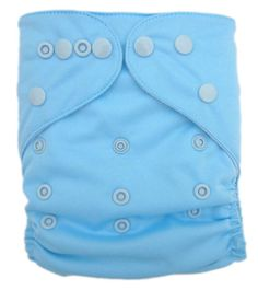Plain blue pocket cloth diaper $4.70 (I think this is the kind of blue where it would work for a tomboy girl [like ours would of course be] or still be blue for a boy, yes?)