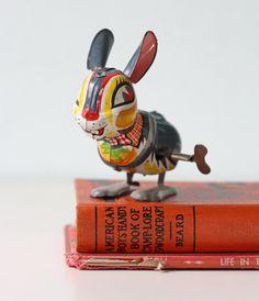 Tin wind-up bunny.