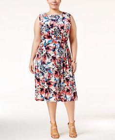 FLORAL PRINT SWING DRESS Emma Mae Boutique