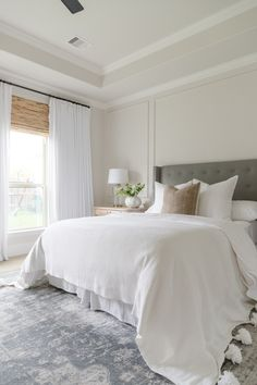 neutral modern traditional bedroom, summer home tour 2019 Bedroom Decor, Summer Home Tour Master Bedroom - Crazy Wonderful Modern Master Bedroom, Master Bedroom Design, Minimalist Bedroom, Contemporary Bedroom, Dream Bedroom, Home Decor Bedroom, Bedroom Ideas, Bedroom Designs, Master Suite