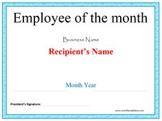 Employee Of The Month Certificate Template Free Pcrystal Flame Art Glass With Black Basegive This Award At Your .