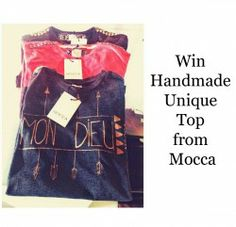 Win Handmade Unique Top from Mocca ^_^ http://www.pintalabios.info/en/fashion_giveaways/view/en/2012 #International #Fashion #bbloggers #Giveaway