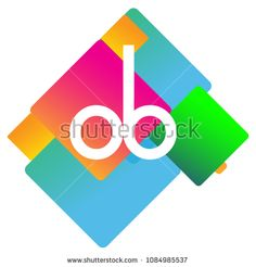 Letter OB logo with colorful geometric shape, letter combination logo design for creative industry, web, business and company. Web Business, Initials Logo, Logo Design, Graphic Design, Creative Industries, Geometric Shapes, Royalty Free Stock Photos, Colorful, Lettering
