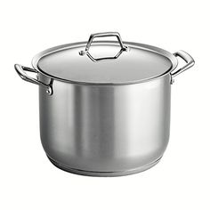 Tramontina Gourmet Prima 1810 Stainless Steel TriPly Base Covered Stock Pot 16Quart ** Click image for more details.-It is an affiliate link to Amazon.