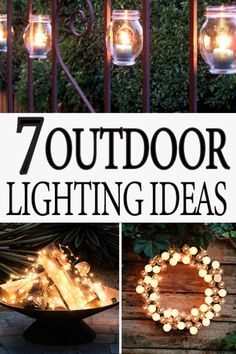 Outdoor lighting is beautiful with these easy ideas!