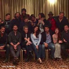 Just being goofy at #Asylum14 with the #supernatural cast in Birmingham England! #spnfamily #jimions