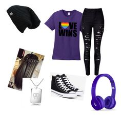"""This is me."" by mercy123 ❤ liked on Polyvore featuring Converse and Bling Jewelry"