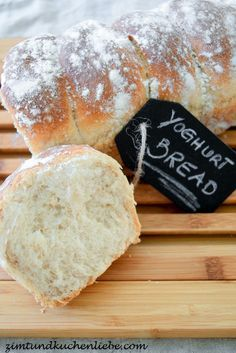 Joghurt-Brot - try with soya yoghurt and brown rice syrup