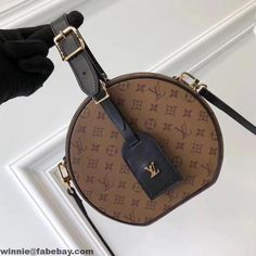 6bea959ce49 Louis Vuitton Petite Boite Chapeau Bag M43510  Louisvuittonhandbags Louis  Vuitton Handbags Crossbody, Black Louis