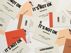 Brand Collateral for IT'S NOT OK Projects, by Soul Twin by SOUL TWIN STUDIO