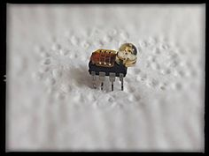 This is a mini bug robot handmade out of computer parts. Thanks for watching. – Pin's Page Computer Parts And Components, Bicycle Bell, Camping Gifts, Fitness Gifts, Electronic Art, Bugs, Best Gifts, Diy Gifts, Thankful