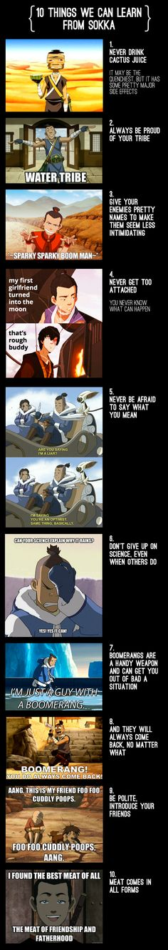10 Things We Can Learn From Sokka (I fell in love with Avatar last week and I'm currently watching the Korra tv show