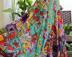 Soft Cotton Patchwork Skirt - OM1409-01