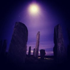 The Standing Stone of Calanais on Lewis in the Western Isles.