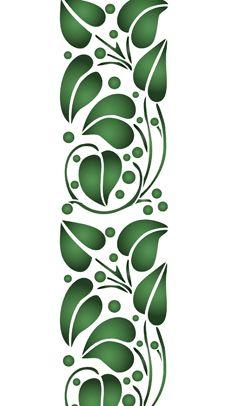 Leaf edging • template design •