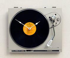 @Marissa Rosen....Clock from an old turntable!