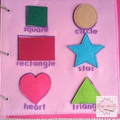 Quiet book shapes