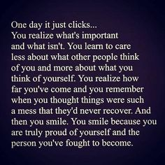 One day it just clicks..