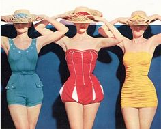 There are SO many vintage swimsuit photos with three women, it must have been a thing. I'm just gonna pin em all.