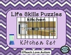 In this set you will find puzzles with different amounts of pieces to work for different learners in your classroom. Check the preview above to see all 4 differentiated levels!  Each puzzle is a different item that would be located in a kitchen. This will help students not only work on problem solving skills but, work on learning vocabulary and identifying that vocabulary in a different way.