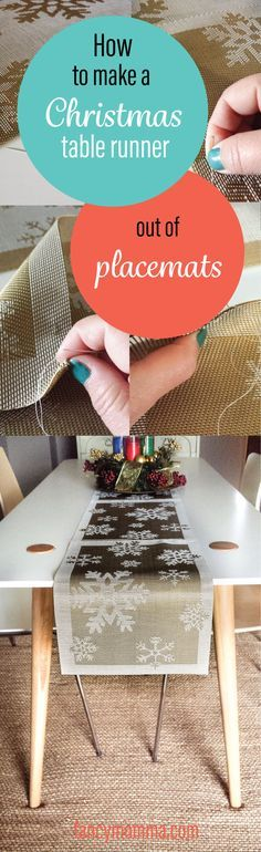Do you have time to make a Christmas table runner? With this diy, you sure can! Just a few placemats and you're almost there. Click to learn how.