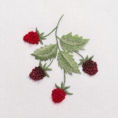 RaspberriesHand Towel - White Cotton