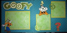 Disney goofy page with Mickey and friends cricut cartridge