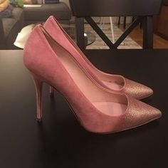 J. Crew Collection Roxie Glitter Suede Pumps