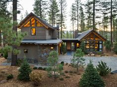 A modern take on mountain architecture. Not really a cabin, but perfectly suited for the mountains. What a beautiful structure! 2014 HGTV Dream Home
