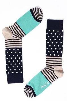 Happy Socks Mens Stripes and Dots Sock | South Moon Under