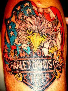 Eagle Harley Davidson Tattoo