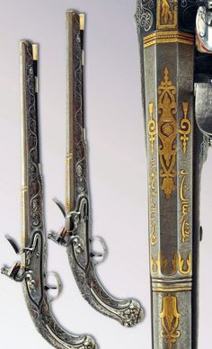 A sumptuous pair of pistols from the Ottoman Empire, Turkey, ca. 18th century.