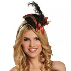 Mini chapeau pirate noir femme