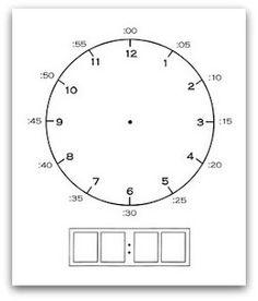 """Plastificar. escribir la hora (digital y agujas) con """"rotuladores mágicos"""""""