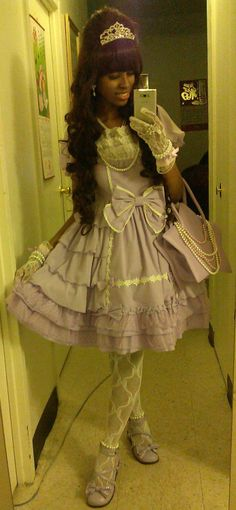 sanriopalace:  My hime lolita coord for International Lolita Day. <3