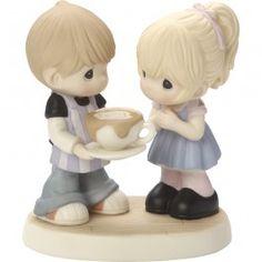 """Love You A Latte"" Bisque Porcelain Figurine"