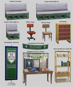 Even More Items from University Life DOWNLOAD • All Bookcases and Computer requires Apartment Life credits: EA