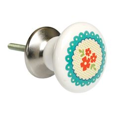 Dotcomgiftshop red spot Ceramic Drawer Knob