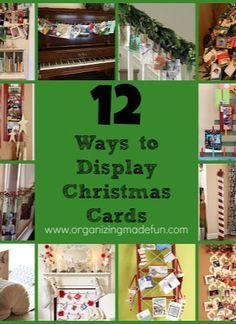 12 Ways to Display Christmas Cards