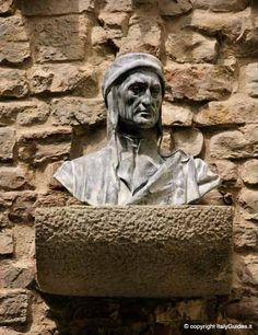 Busto di Dante Alighieri, poeta fiorentino