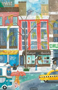 Footlight Records, Greenwich Village, NYC. A limited edition giclee print.