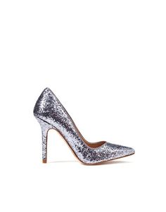 c92801c40e6 Silver glitter court shoes from Zara