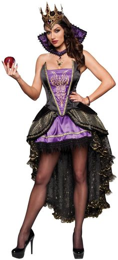 Evil Queen Sexy Costume - Halloween Costumes
